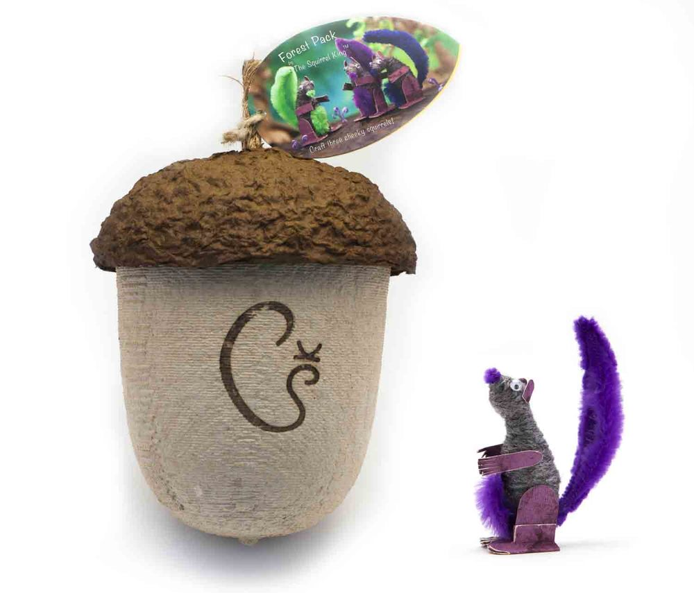 Our giant acorns contain everything you need              to craft three cheeky squirrels!