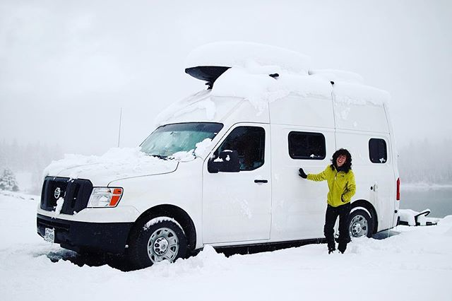 "(1 of 3) Meet Lisa (@vacayvans) of Austin, TX, seen here with her big, beautiful 2012 Nissan NV2500 named Freebird . She's a solo female #vanlifer, along with her kitty companion, and loves the freedom that living in Freebird has brought her, especially in her self-discovery and self-fulfillment . ""I also love van life because it's an opportunity to embrace the unconventional and to be weird."" . Follow her @vacayvans and follow the link in our profile for more .  #hsvfeaturefridays #homesweetvan #livesmall #dreambiglivetiny #womenwhobuild"