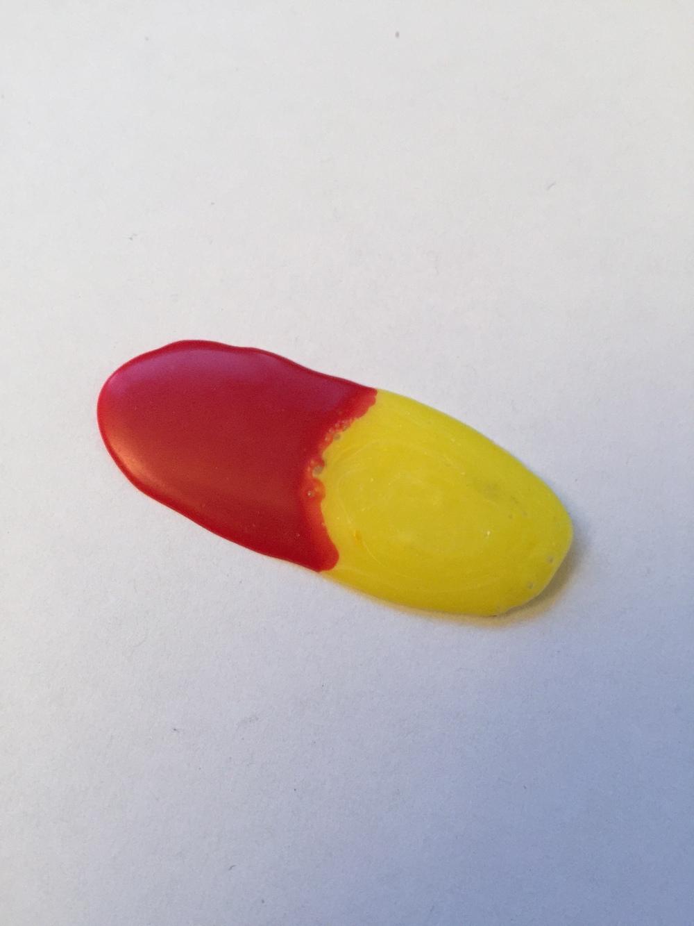 Dyed school glue.2014