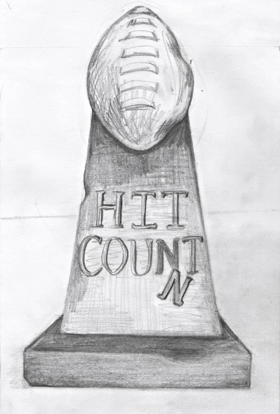 """Hit Count"" book cover sketch"