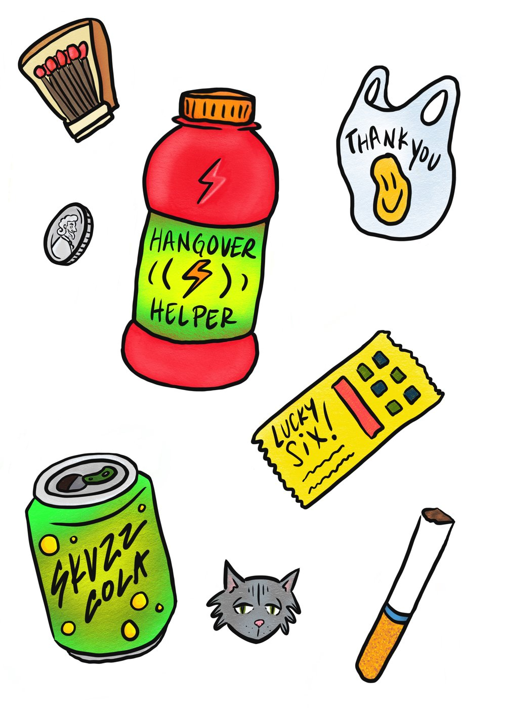 Bodega Sticker Set