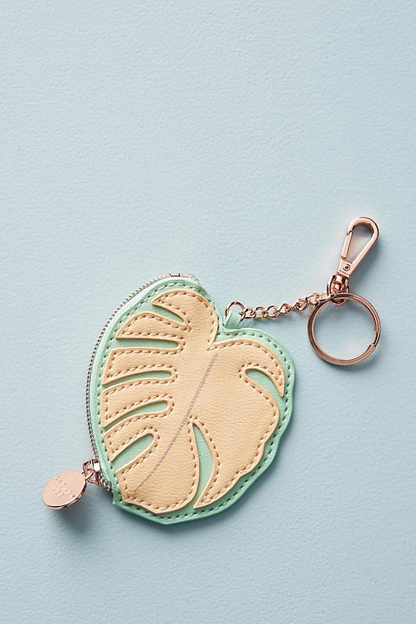 Palm Leaf Keychain Pouch