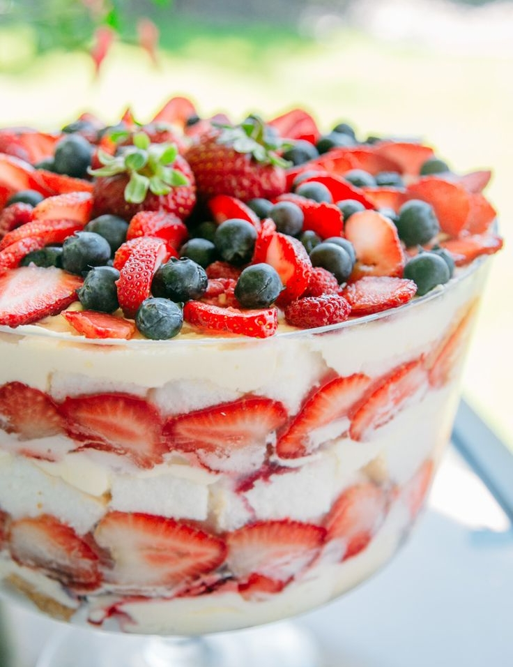 Triple Berry Trifle -