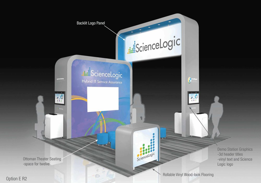 ScienceLogic 20x30 Booth (alternate view)