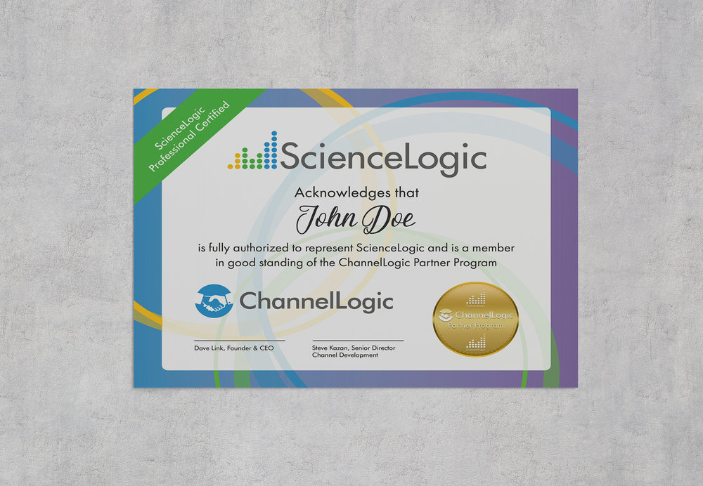 ScienceLogic ChannelLogic Certificate