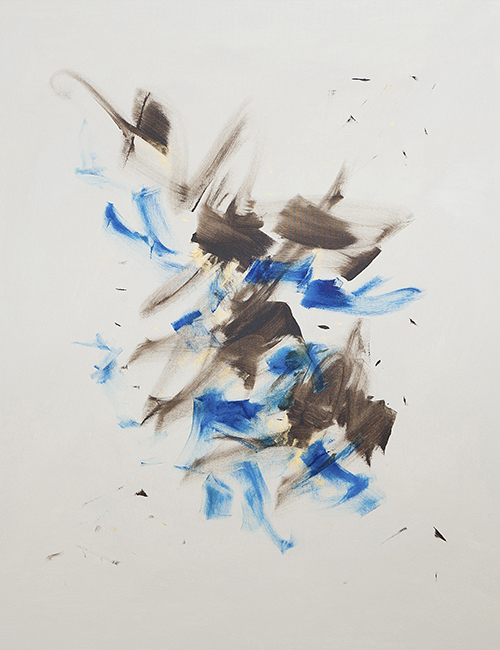 "BLUE DANCER, 34"" X 44"""