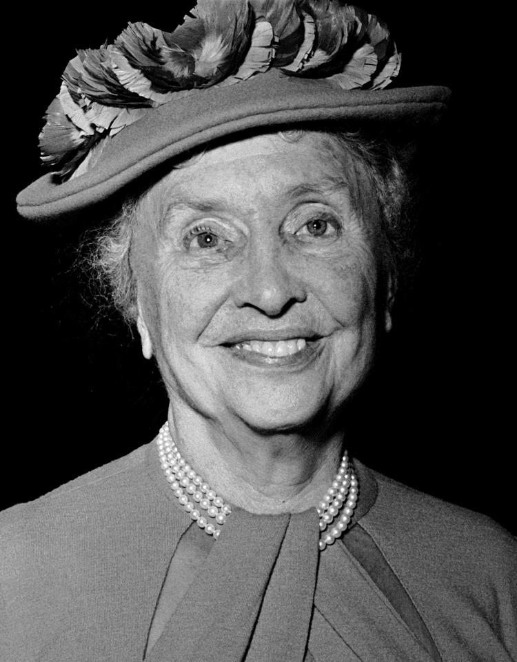 Hellen Keller, 1955