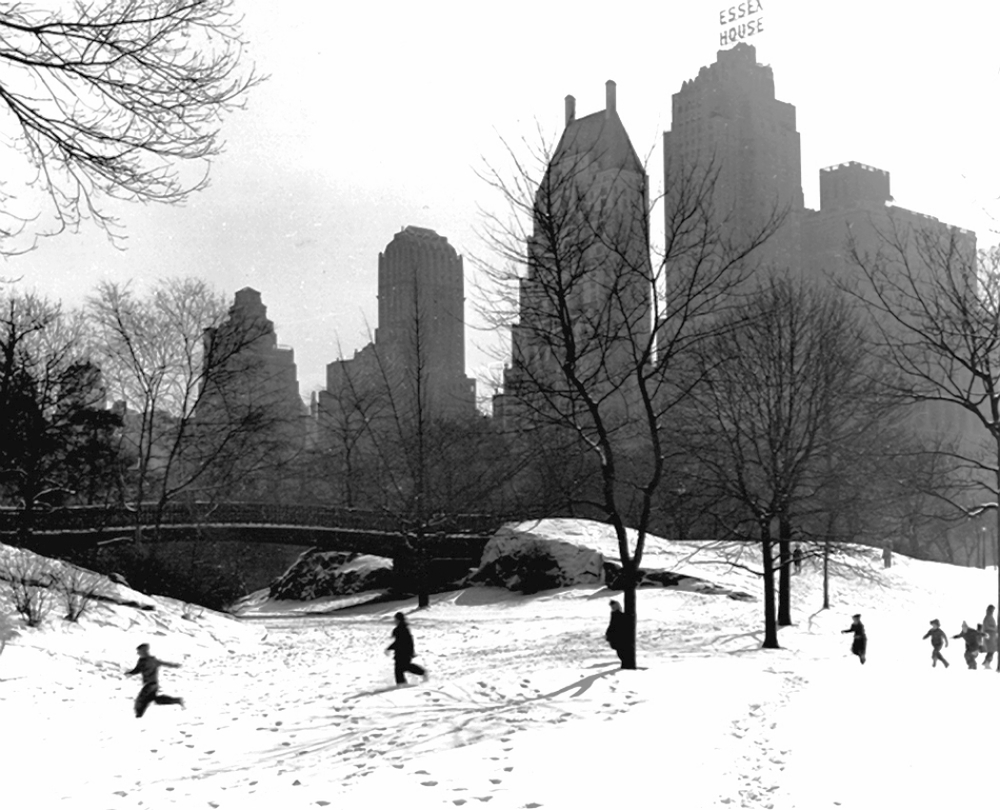 Winter in Central Park, 1946