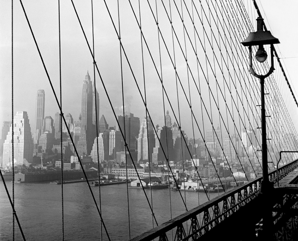 Manhattan Through Brooklyn Bridge, 1948