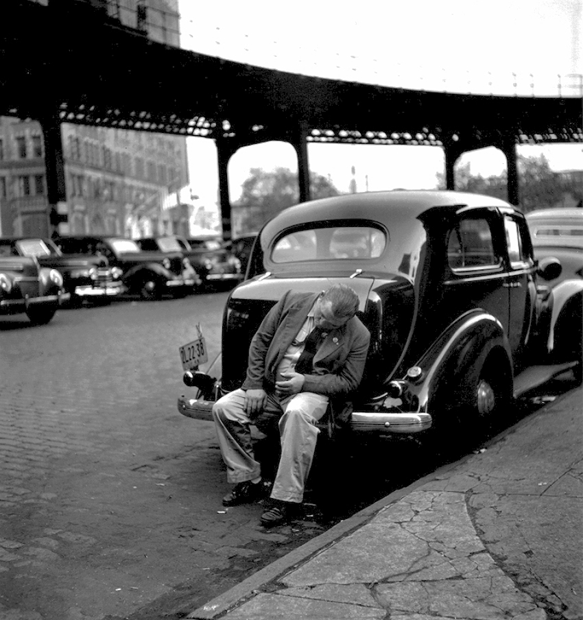 Man on Bumper, 1949