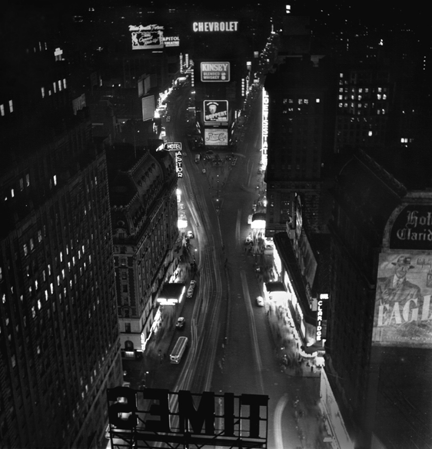 Times Square Night, 1947