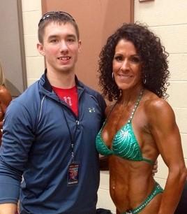 My client Teresa and I after her NPC OKC Grand Prix figure win.