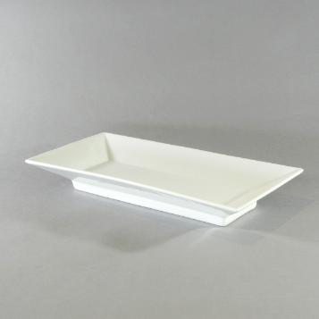 "Porcelain Rectangular Platter - U (14""x7"")"