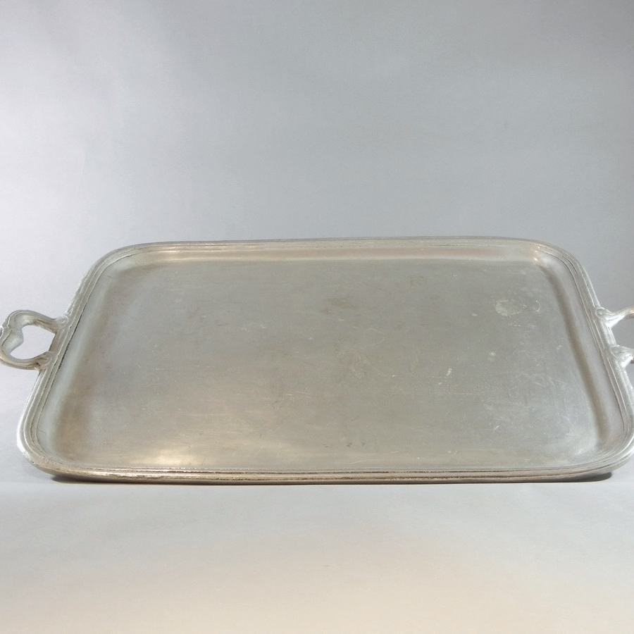 "Cast Aluminum Tray with handles (27"")"