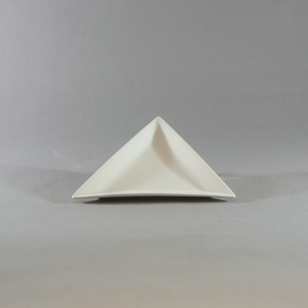 White Triangular Plate (8'')