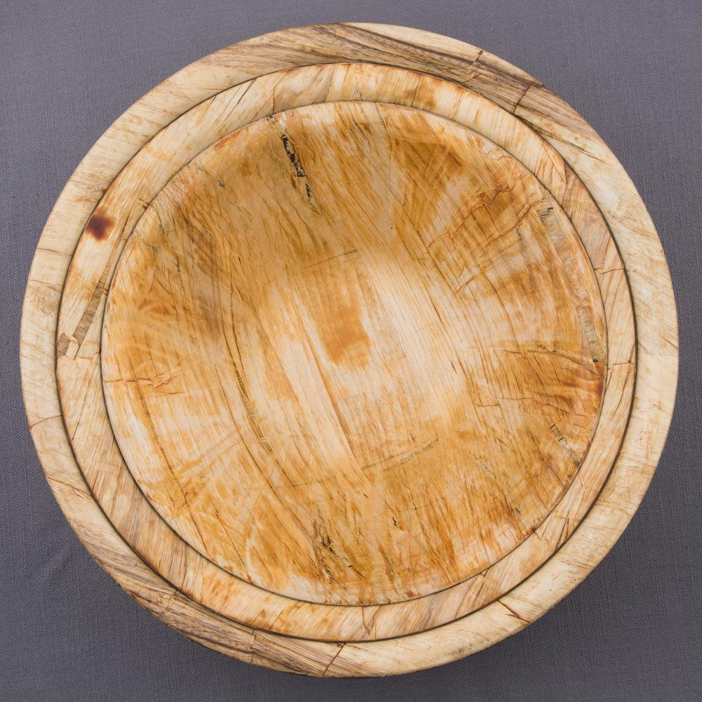 Natural Hardwood Tapered Bowls