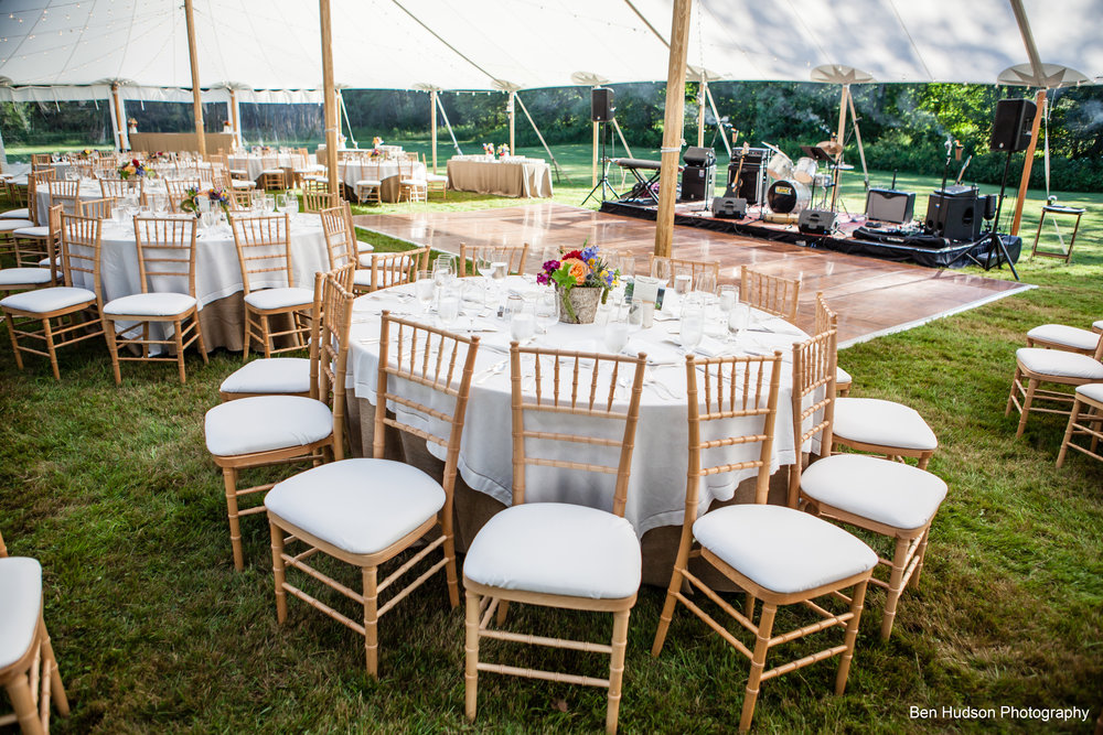 Event Table Rentals round rectangle square and Vermont farm