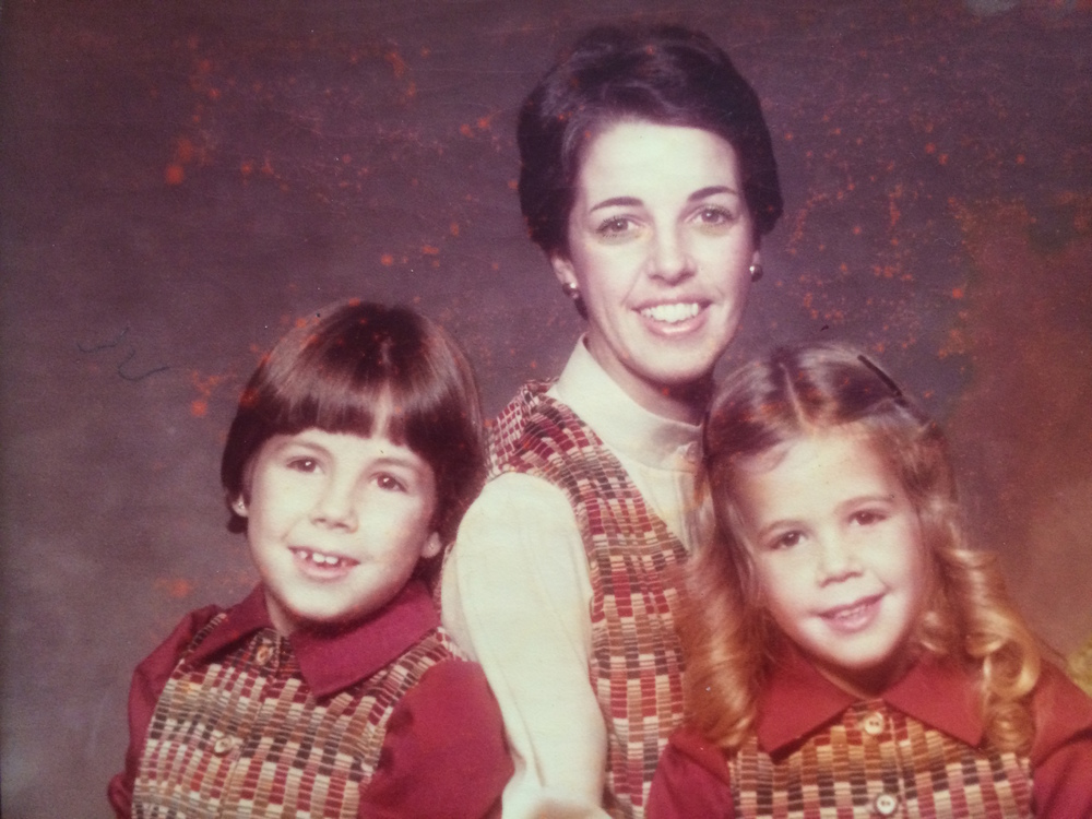 Me and Mom and Sister. Mom made those vests. (Disclaimer: Not a recent photo.)