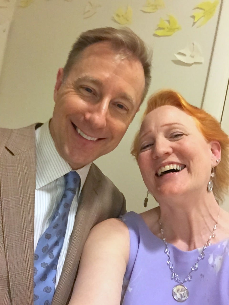 Selfies back stage - Don & Margaret