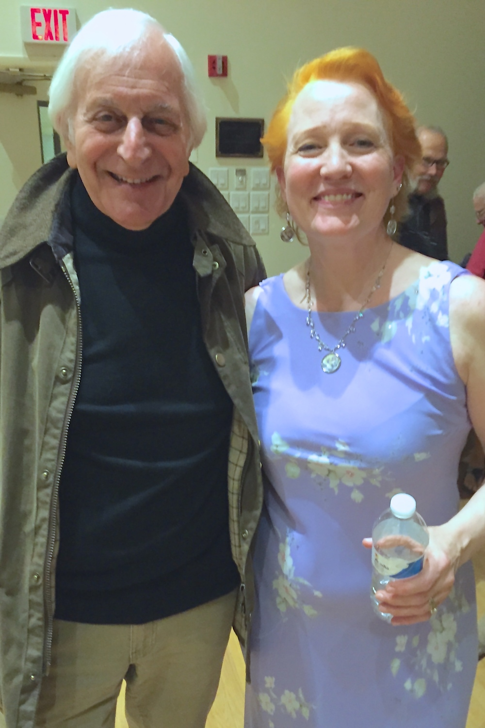 Margaret with our next commissioned composer, Gary William Friedman