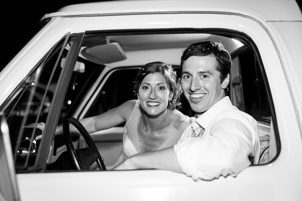 Don with his wife Shea post wedding reception on August 1, 2015.