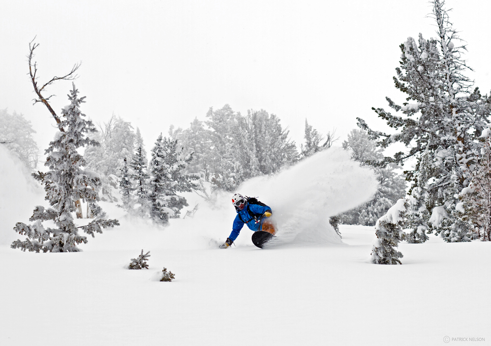 Don in his happy place on his swallowtail somewhere on Teton Pass. Photo: Patrick Nelson
