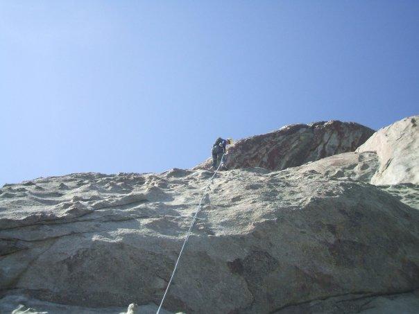 Alex climbing at City of Rocks.