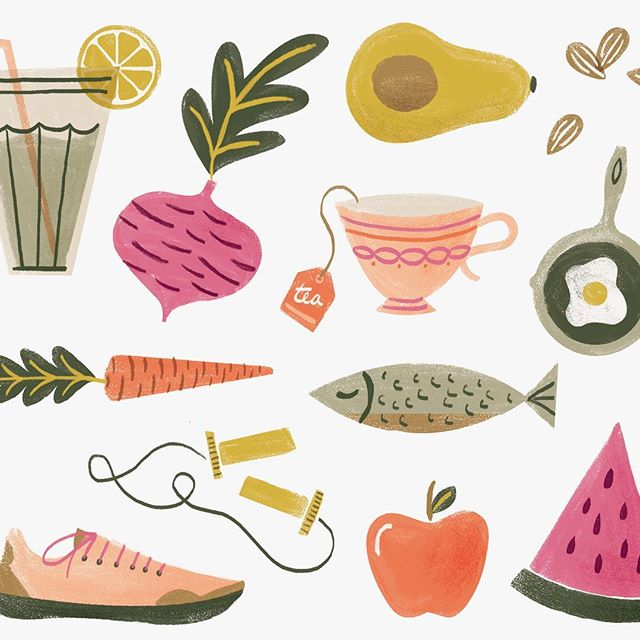 icons I designed for @deeplyrootedmag a while ago 🍉
