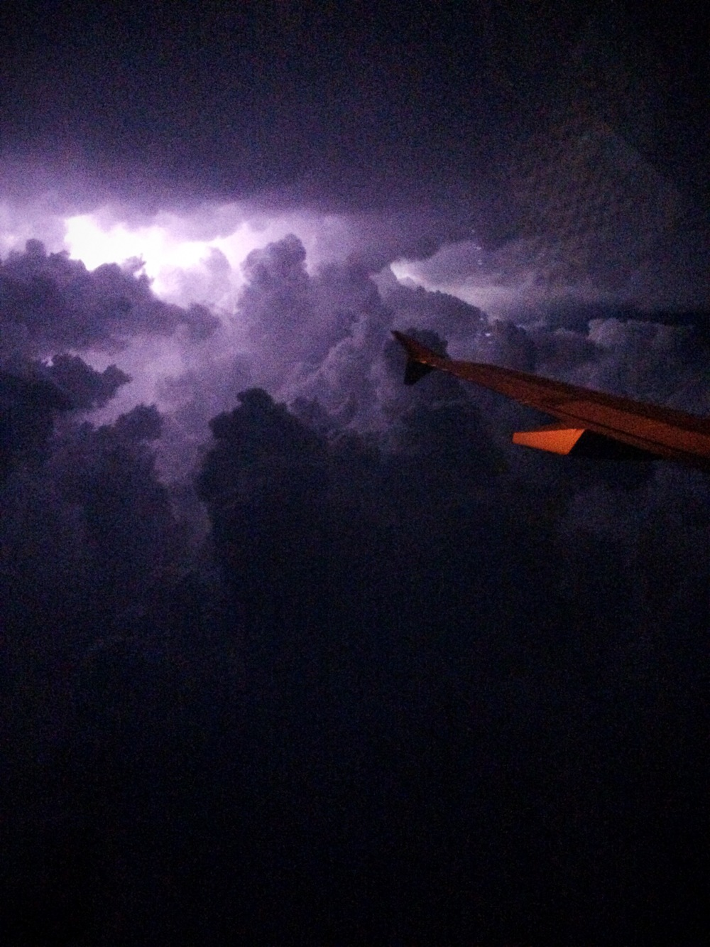 Flying next to this lightning storm almost made me pee my pants in-flight, but I did get some incredible iPhone shots.