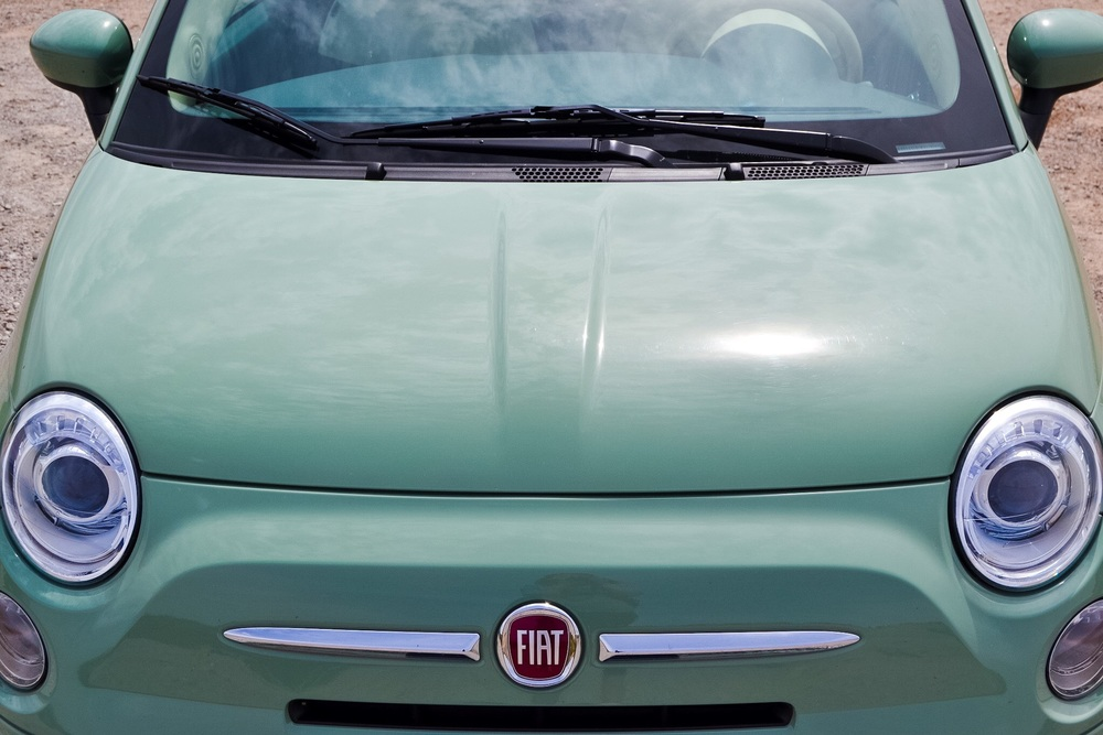 Did you know that Fiat's have mustache's? Do you see it??? Now you know.