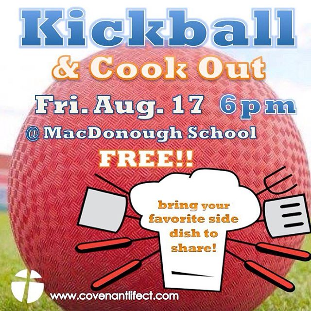 Join us for this community event - fun for the whole family!! Check in at: www.covenantlifect.com - let us know what side dish you're bringing to share! #northend #middletown #together