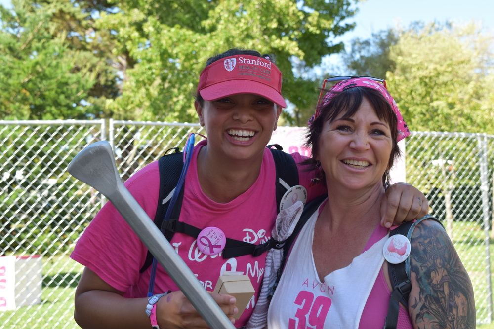 Mother and daughter team walking for mom (a survivor).