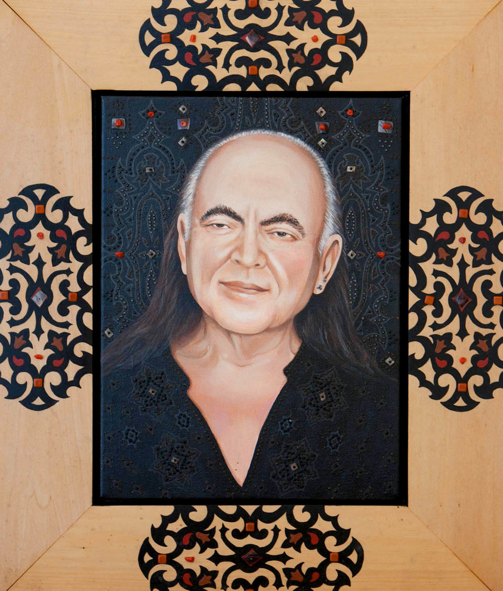 Bhagavan Adi Da in Black with Coral and Shells, 2003