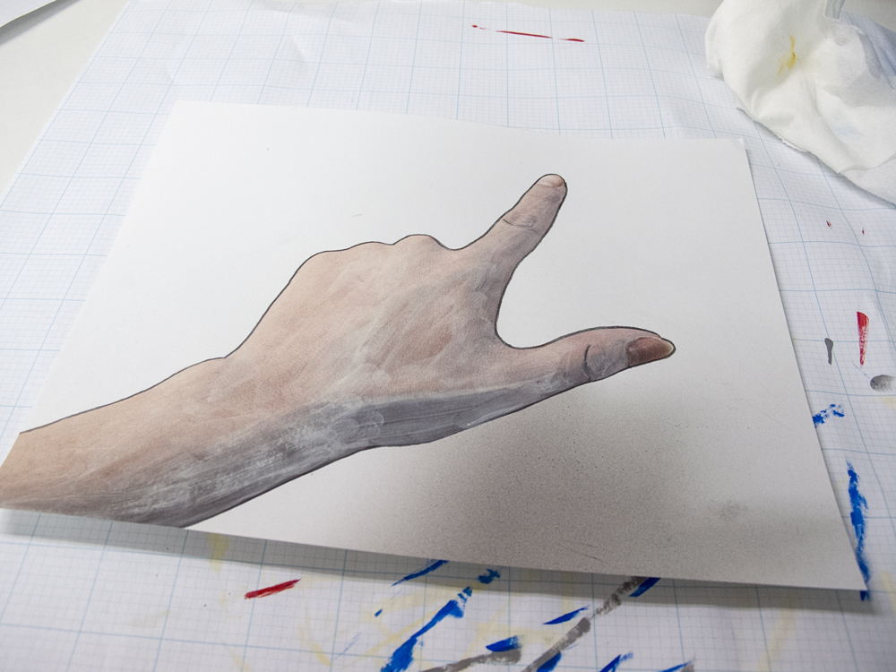 Counting hand in process, 2013.