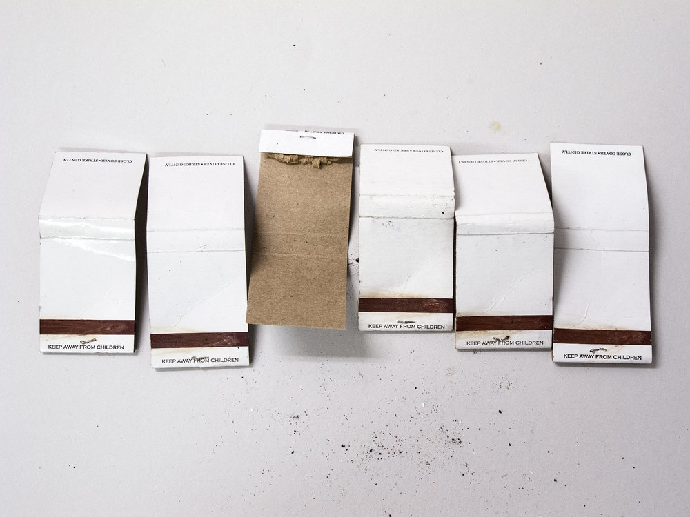 Matchbooks in Line, 2014   Pigment print on matte cotton rag paper, 13 x 19 inches, edition of 2
