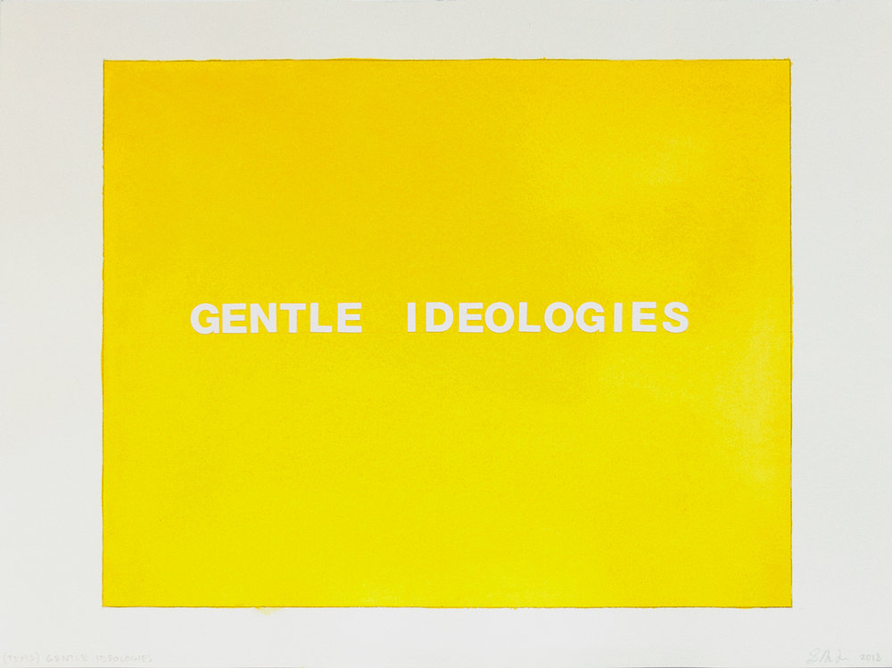 TEXTS two words: Gentle Idiologies, 2018, South Korea
