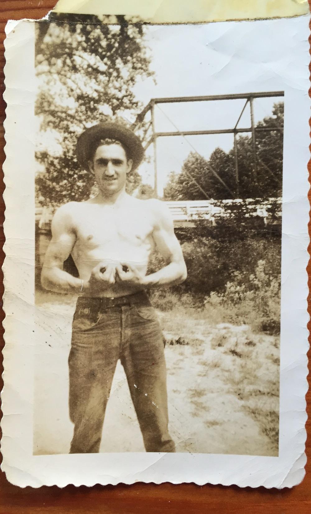 Grandpa JE Jones as a young man
