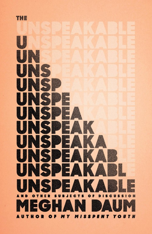 The Unspeakable: And Other Subjects of Discussion book cover