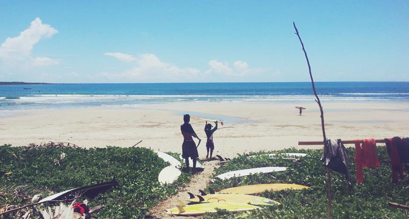 The beach break at Buenavista.