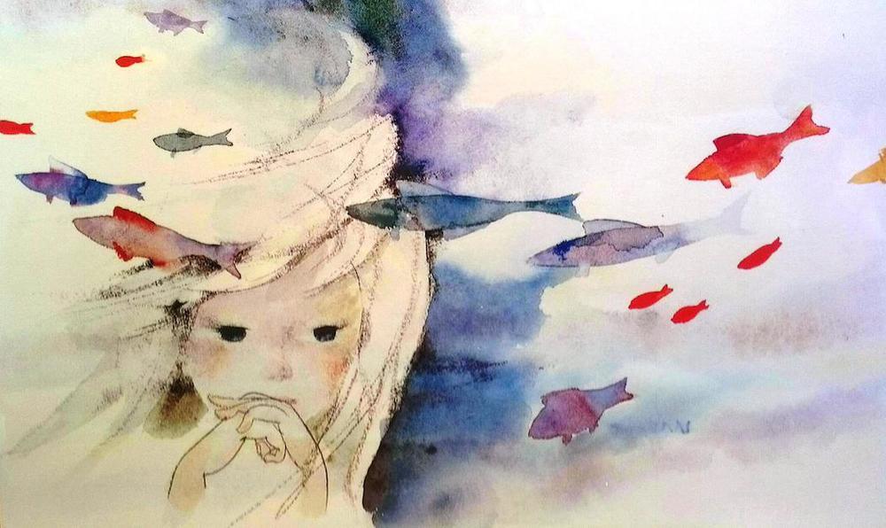 Artwork by illustrator Chihiro Iwasaki.