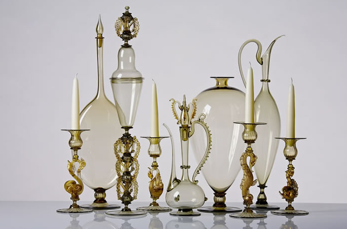 Venetian-style blown glass by James Mongrain