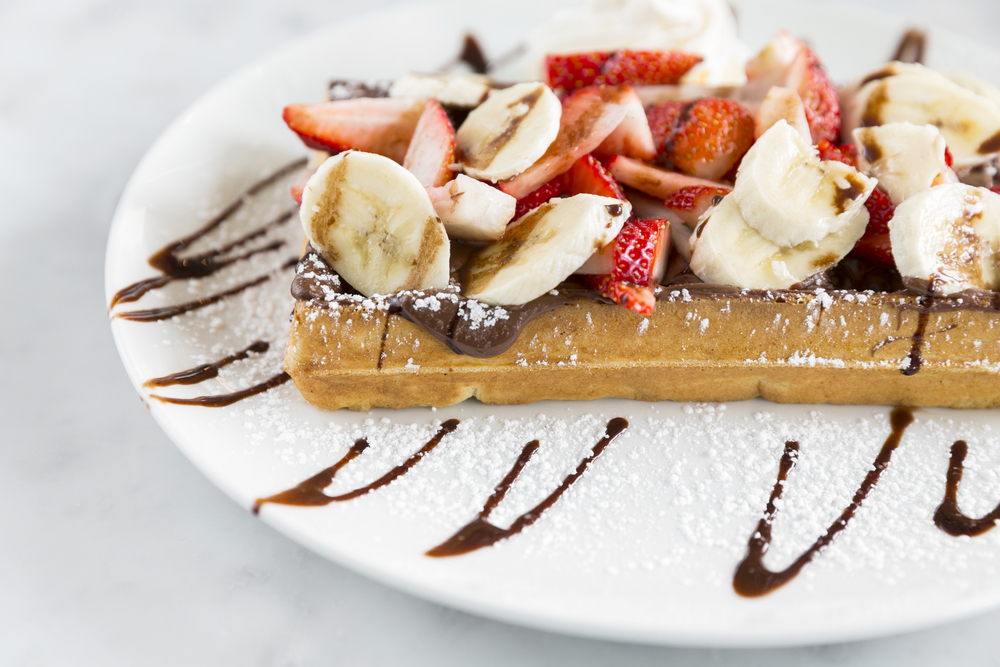 Nutella Waffle at Sweet Paris