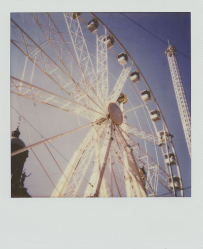 Ferris wheel (Polaroid One Step 600 and Impossible Project colour film)