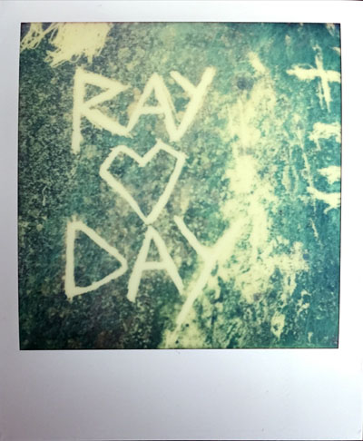 Ray loves Day (Polaroid SX-70 and Impossible Project colour film)