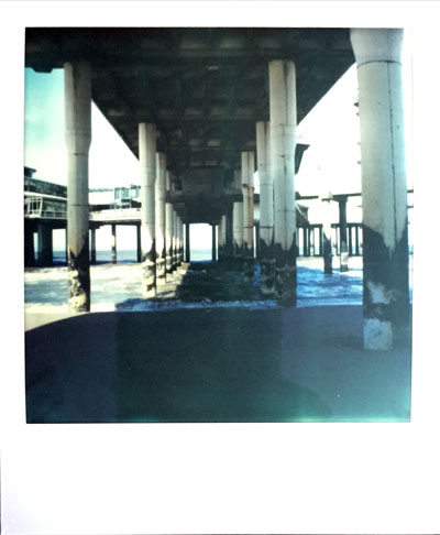 Under the boardwalk (Polaroid SX-70 and Impossible Project colour film)