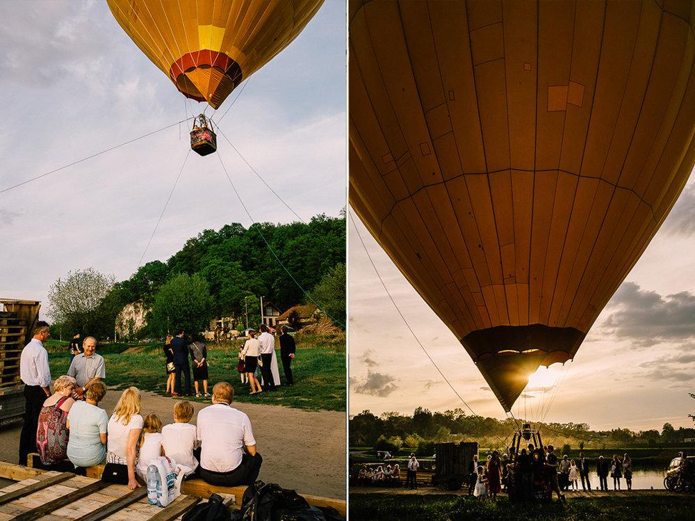 Loty balonem nad Wisłą w Krakowie