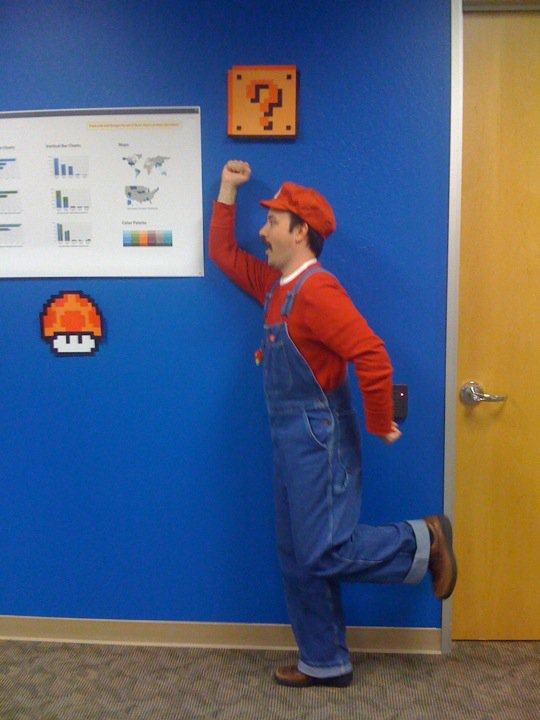 That's the reason why so cool to work at LinkedIn! Chris is the super mario and I made icons#awesome #in #supermario