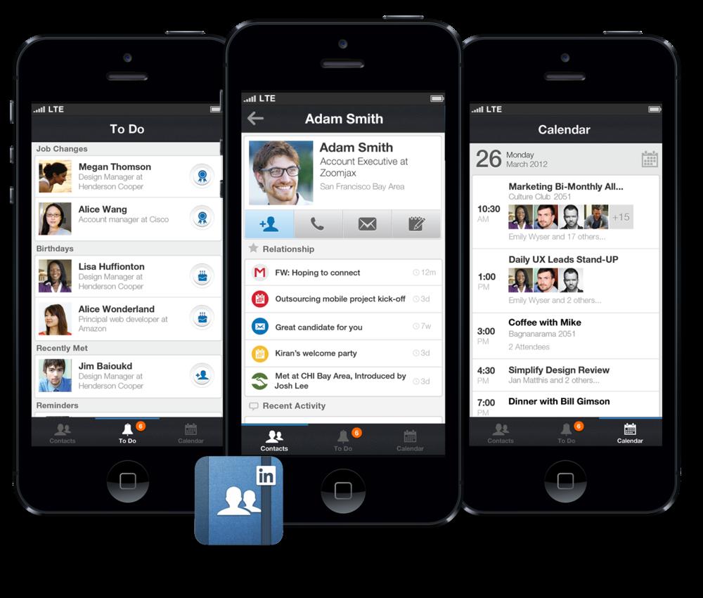 Linkedin Contacts iPhone App