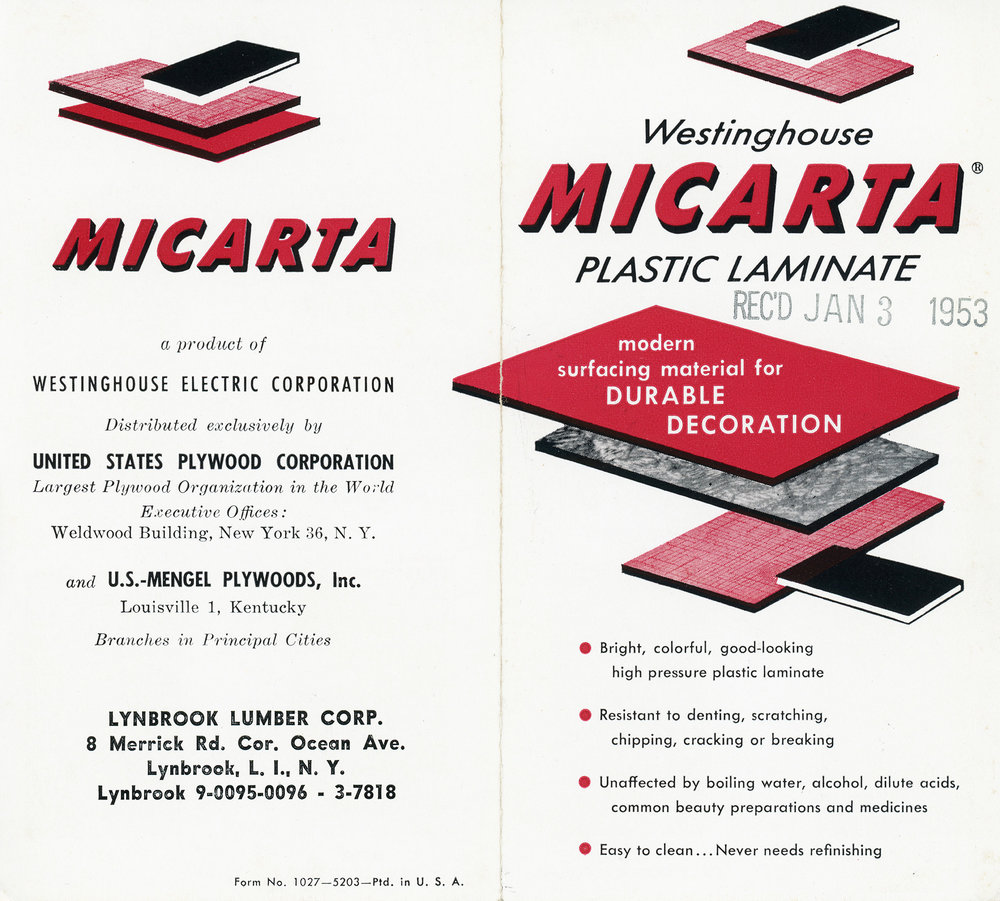 Westinghouse Micarta Plastic Laminate