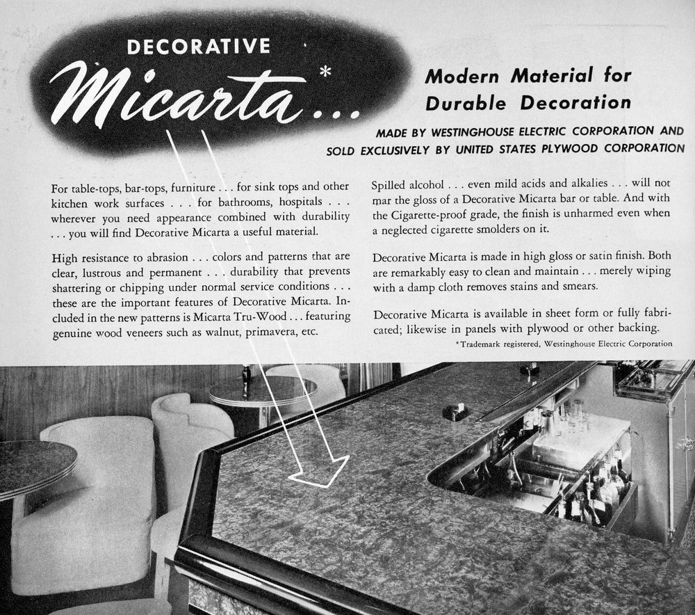 Westinghouse Micarta - Modern Material For Durable Decoration